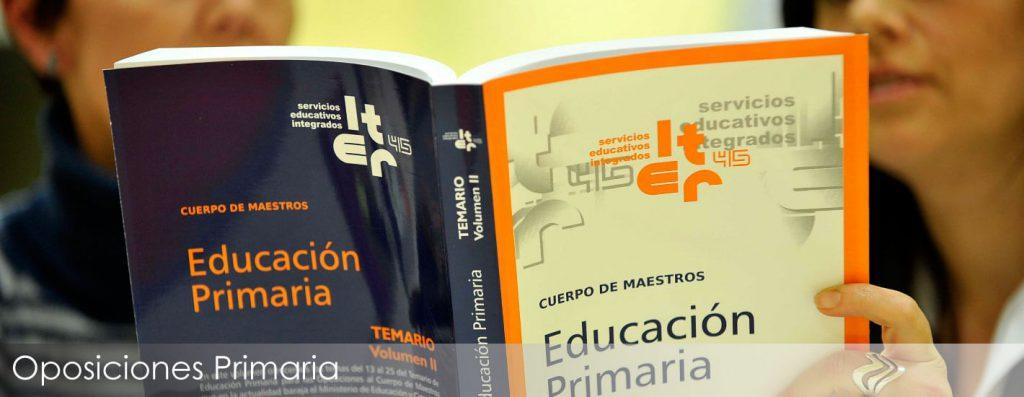 Prepara las oppsiciones a Educación Primaria con la Academia iter45