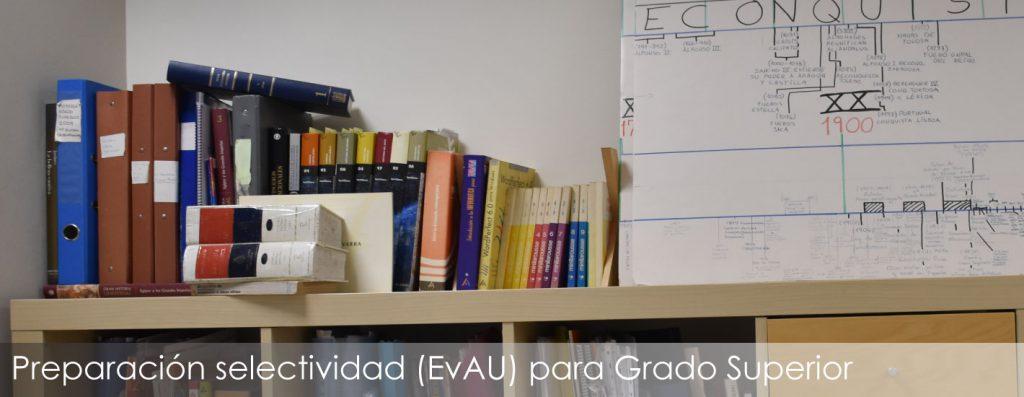 Cursos de preparación EvAU para alumnos de Grado Superior
