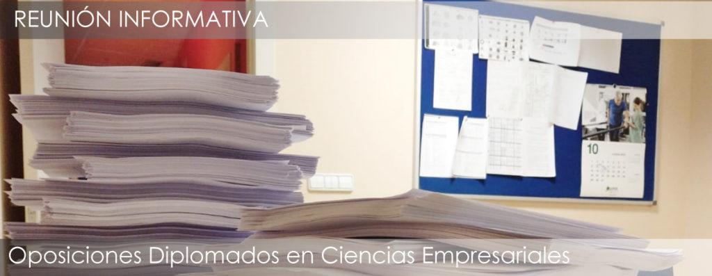 Reunión informativa sobre el curso de opsociones a Diplomados en Ciencias Empresariales